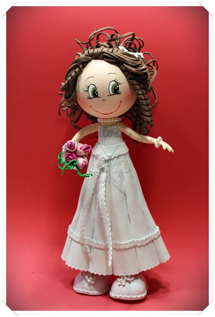 Fofucha novia para boda  www.xeitosas.com