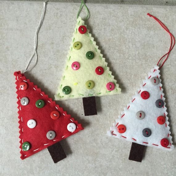 Decoration De Noel Fait Main En Feutrine