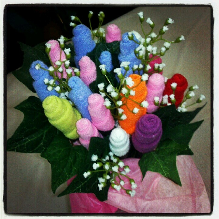 Baby washcloth bouquet my creations pinterest for Bouquet internet