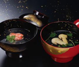 金仕立 お吸い物セット(松茸・蟹)9個セット