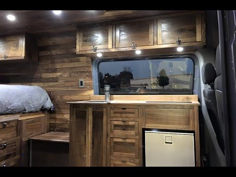 Sprinter Van Conversion -  Full Build Out!! (timelapse) - YouTube