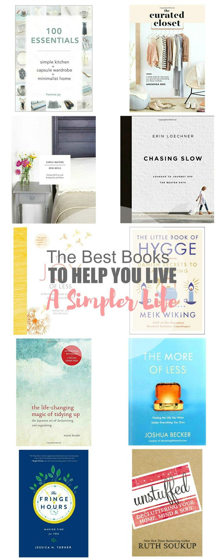 11 of the Best Books on Living a Simple Life | Simple Living | Minimalism | Living with Intention | Decluttering
