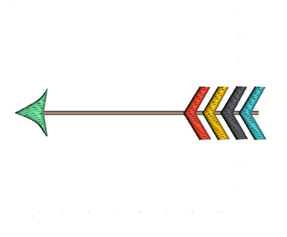 Single Arrow by Katie Lyons    *This is a Machine Embroidery pattern. You must have an embroidery machine to use this item.*    This pattern has