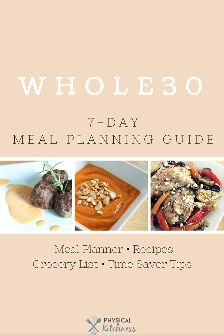 Curious to try Whole30 or eat unprocessed meals for an entire week? Get your FREE meal planner, coinciding recipes, grocery list, and time saver tips here!
