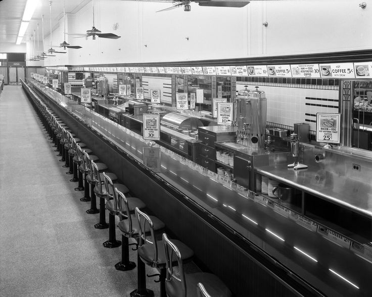 Woolworth's Lunch counter on Rideau Street. I ate there quite a few times in my life, but I never realized it was so long. (It could be the picture who makes it look longer?