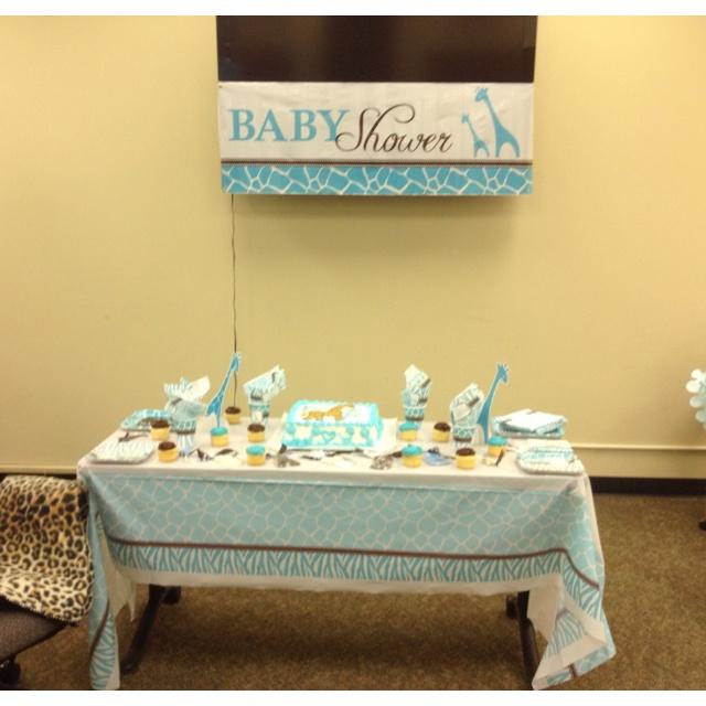 baby boy baby shower at work baby shower ideas pinterest blue
