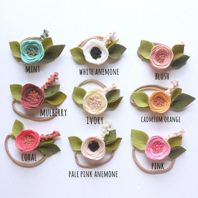 www.fancyfreefinery.com // felt flower headband