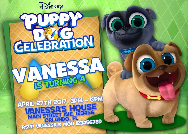 29 best Have a Puppy Dog Pals Party images – Puppy Dog Birthday Invitations