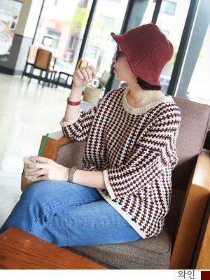 korean fashion online store [COCOBLACK] Honeycomb knit Part 5 / Size : FREE / Price : 37.81 USD #korea #fashion #style #fashionshop #cocoblack #missyfashion #missy #top #knit #honeycombo #dailylook