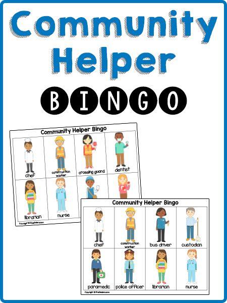 Community Helpers Bingo