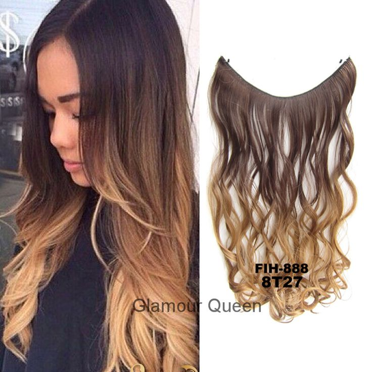 1pcs 50g 22inch, Heat Resistance No clip Ombre Dip Dye Synthetic Wavy Curl Hair Extensions Secret Miracle Fish Line Hair Wire http://jadeshair.com/1pcs-50g-22inch-heat-resistance-no-clip-ombre-dip-dye-synthetic-wavy-curl-hair-extensions-secret-miracle-fish-line-hair-wire/ #HairExtension