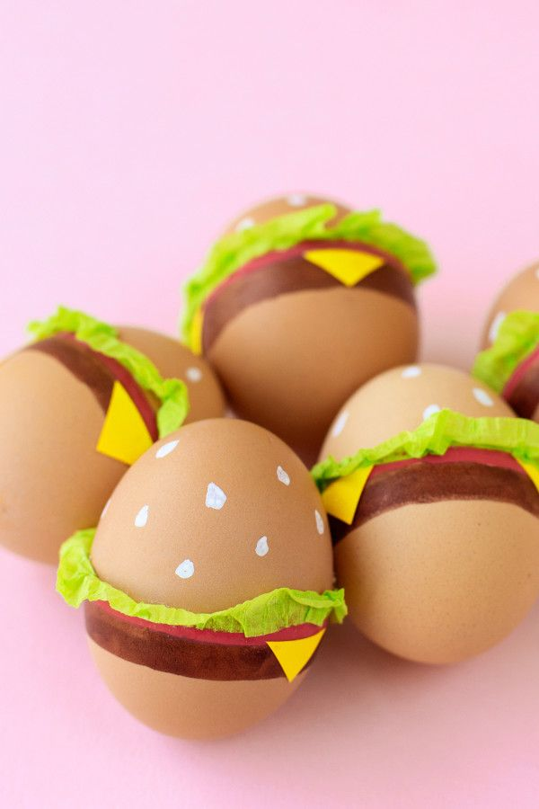 DIY Burger Easter Eggs | Studio DIY