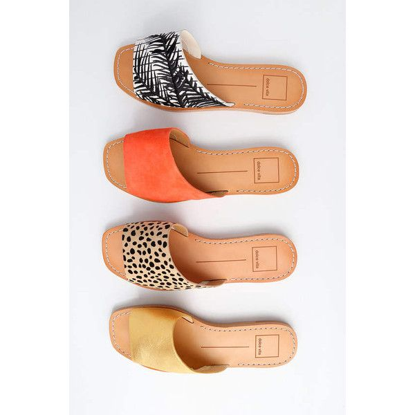 4df35e7138e Cato Orange Genuine Suede Leather Slide Sandal Heels ( 80) ❤ liked on  Polyvore featuring