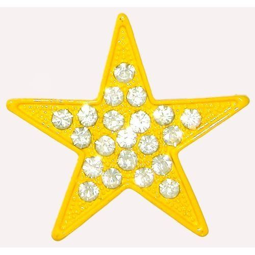 """1.5"""" Star Ring with Rhinestones In Yellow . $1.99. Save 60% Off!"""