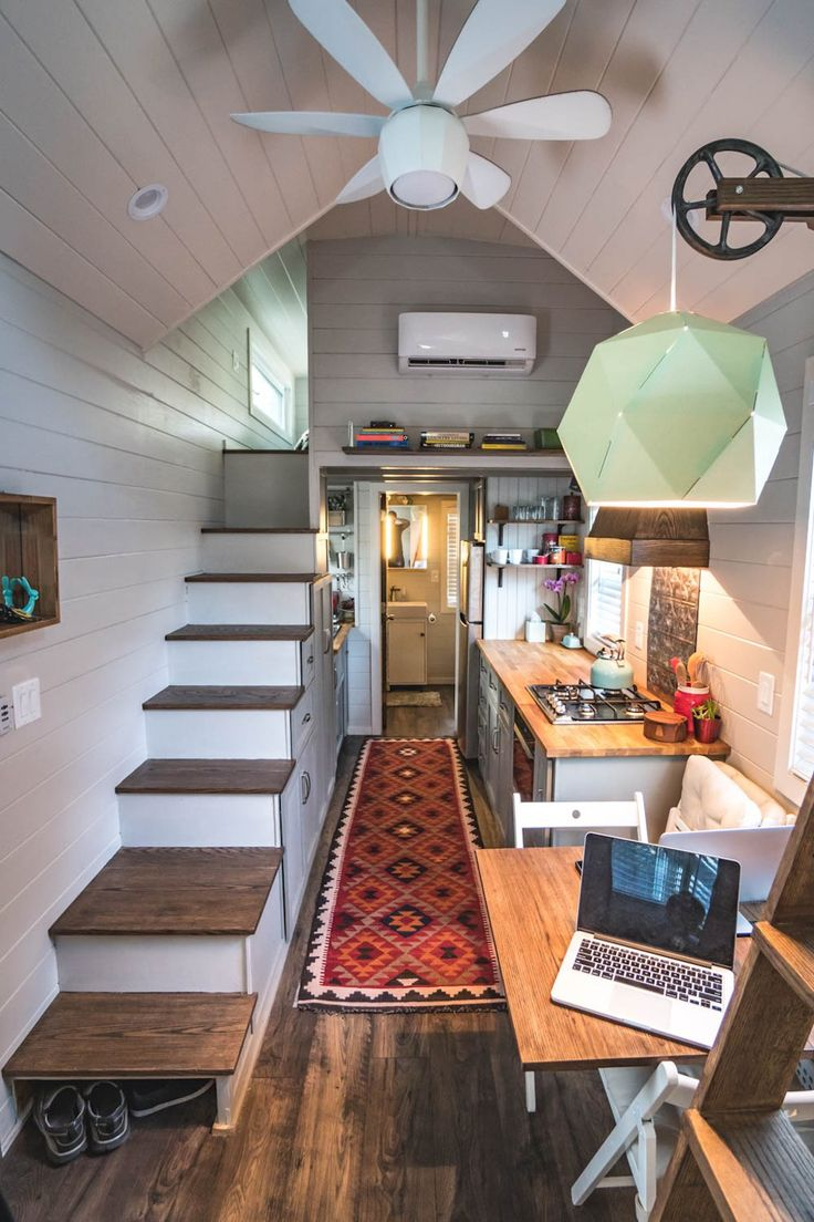 View toward kitchen the alpha tiny home by new frontier tiny homes - Best 25 Tiny House Design Ideas On Pinterest Tiny Houses Tiny Living And Small House Interiors