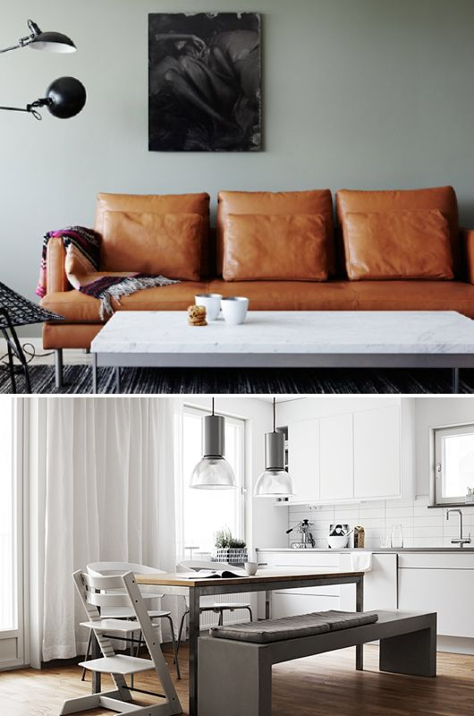 wantwantwant a carmel leather sofa sfgirlbybay / bohemian modern style from a san francisco girl