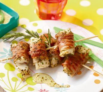 Zachte kabeljauw in parmaham met pesto-roomsaus - Recept - Jumbo Supermarkten
