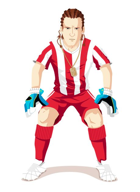 Oscar Sour Cream – Character Design for the TUC soccer game