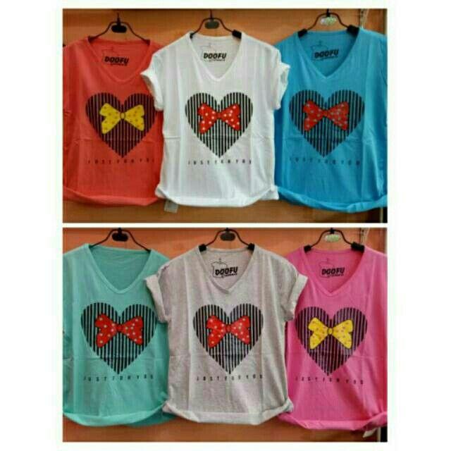 Temukan dan dapatkan Kaos wanita / pita love / kaos lengan pendek wanita / allsize hanya Rp 40.000 di Shopee sekarang juga! http://shopee.co.id/ssfashionkaos/304989711 #ShopeeID