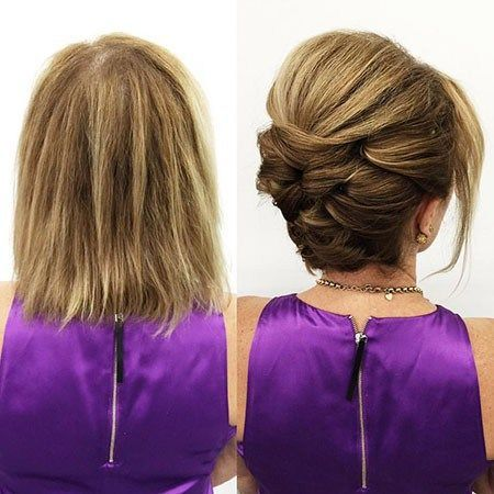Updo-with-Volume Nice Updos for Short Hair #shorthairupdo
