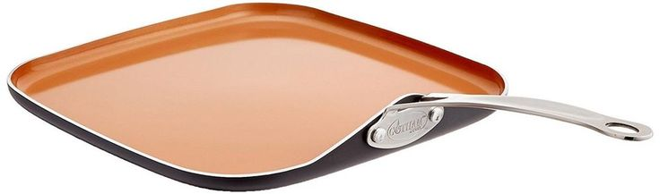"""US GOTHAM STEEL 10.5"""" Ceramic Non-Stick Griddle Portable Stove Top Flat Fry Pan #GOTHAMSTEEL"""