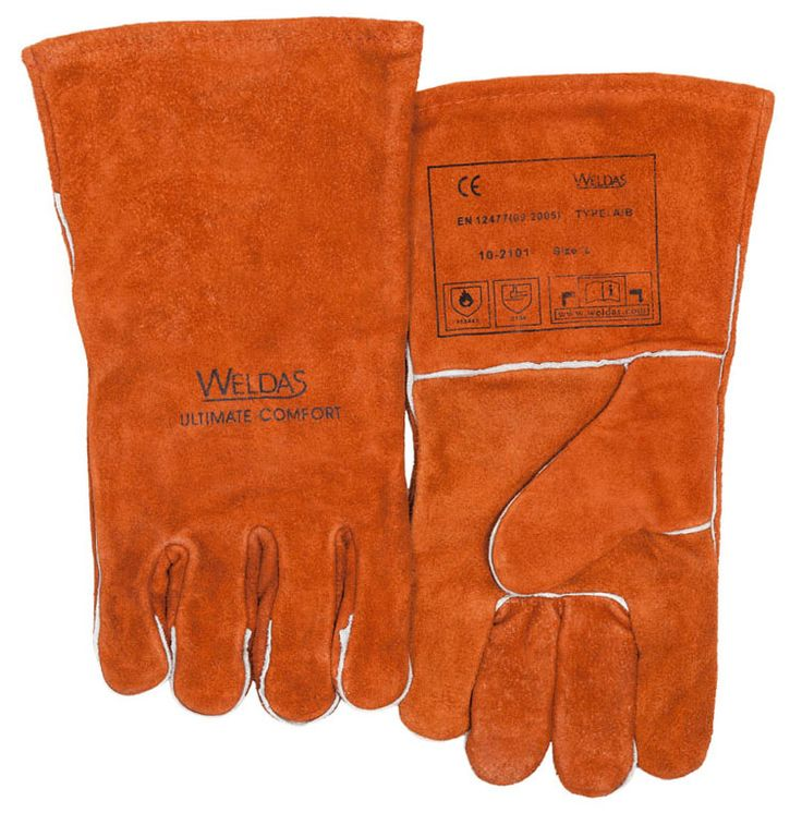 Work Gloves Leather Welder Safety Glove Leather Driver Gloves Cow Leather TIG MIG Welding Gloves #Affiliate