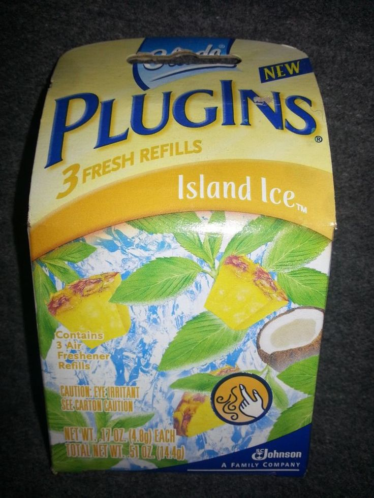 Glade PlugIns 3 Island Ice Scented Air Freshener Refill Hard To Find Discontined