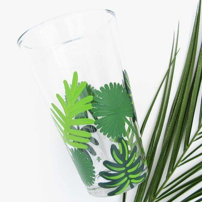 Painted by the Shore Moana Tropical Print Beer Glass