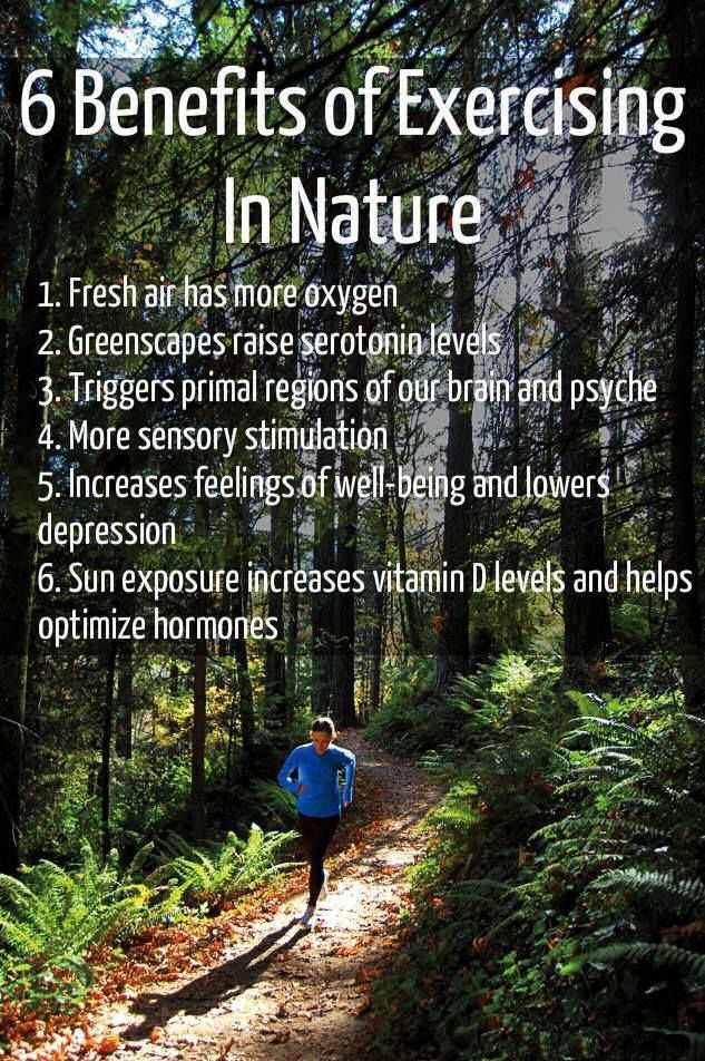 6 Benefits of Exercising in Nature   I intend to make full use of this Minnesota summer.