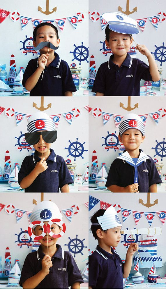 Nautical Props for Nautical Birthday Party. Perfect by Popobell