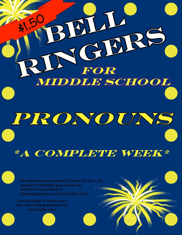 Five days of bell ringers for pronouns!!   The activities are scaffolded, with the first day being an introduction and the last day being an assessment piece. Grade the first four for completion and the last one for correctness!   Activities include: identifying pronouns, rewriting sentences using pronouns, choosing the correct pronoun to complete the sentence, complete a paragraph using pronouns, and identifying the antecedent.