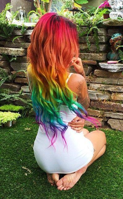 10 Regebenbogen Haarfarbe Ideen