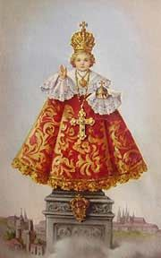 "To the Infant of Prague Written by  Traditional  This powerful novena is also known as The Storm Novena because you are ""storming the heavens"" with your prayers for an urgent need. It is to be said at the same time every hour for nine consecutive hours in one day."
