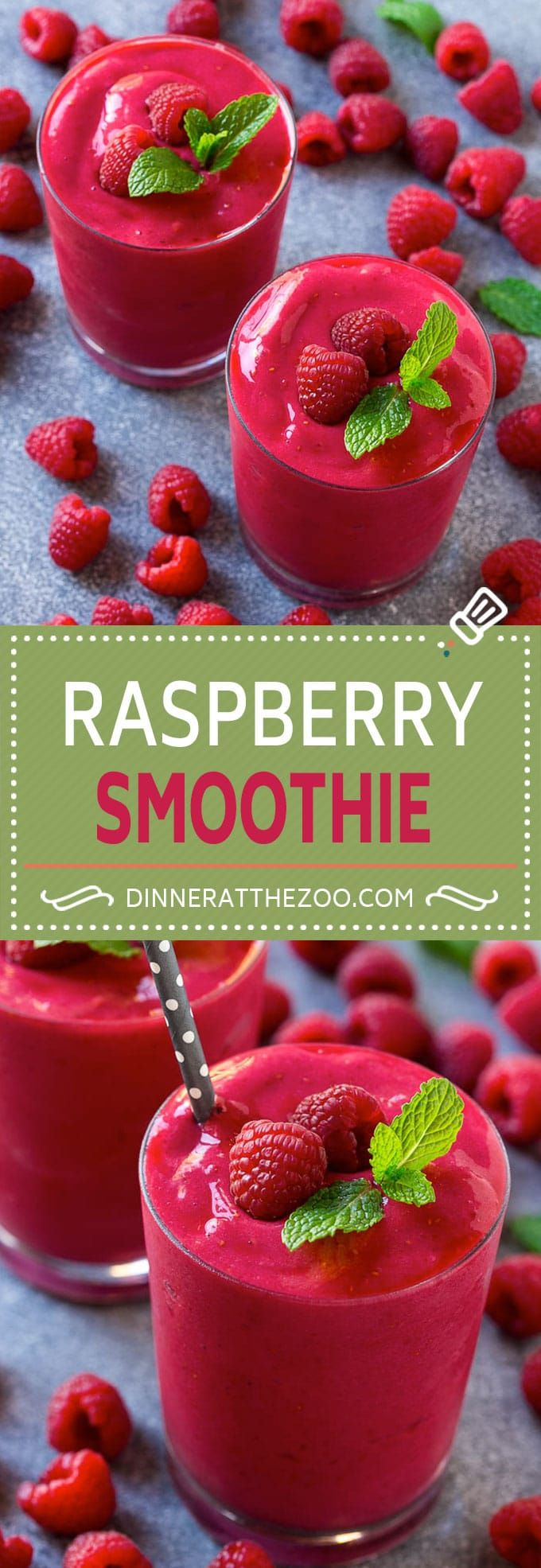 Raspberry Smoothie Recipe | Raspberry Banana Smoothie | Healthy Smoothie | Berry Smoothie | Greek Yogurt Smoothie