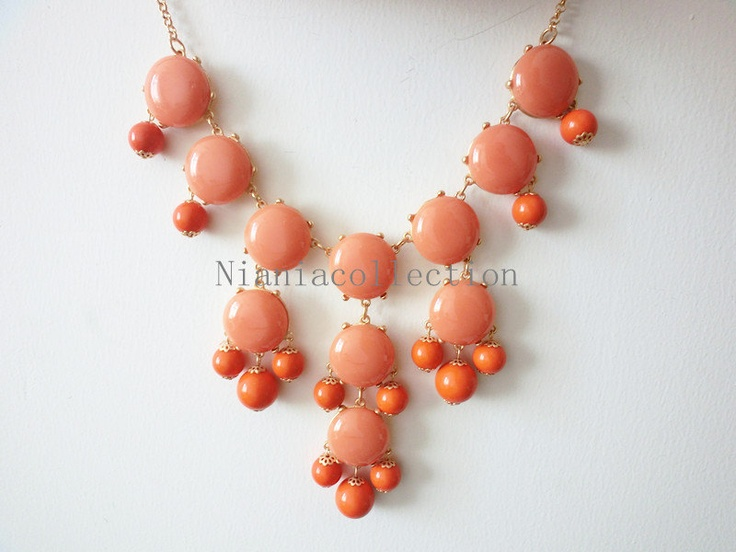 Baby Orange Bubble Statement Hollywood elegant Necklace. $19.00, via Etsy. @Cayla Bright: Bubbles, Baby Orange, Bubble Statement, Big Size, Hollywood Elegant, 19 00