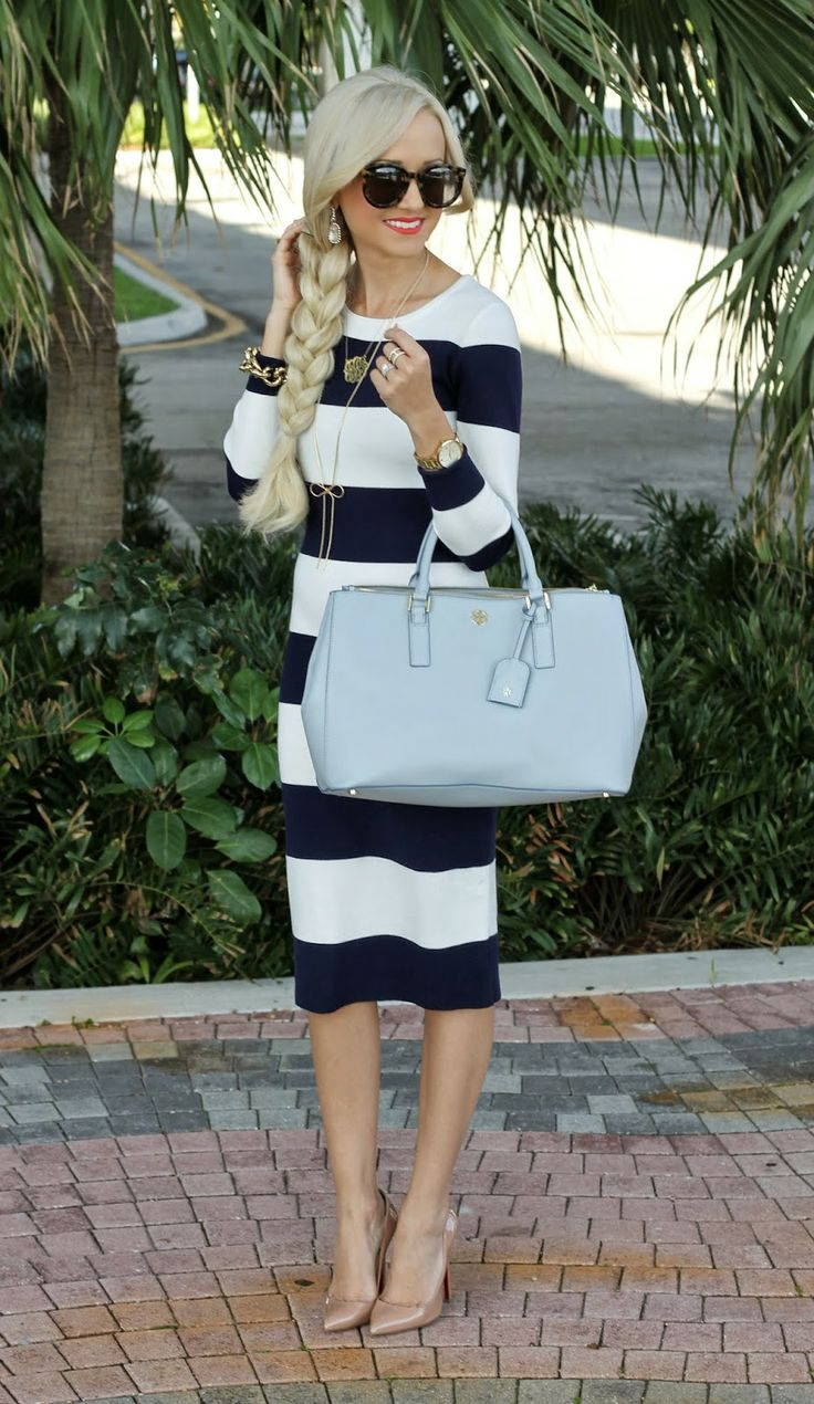A Spoonful of Style: Nautical Stripes... Darling dress (website is Goodnight Macaroon)