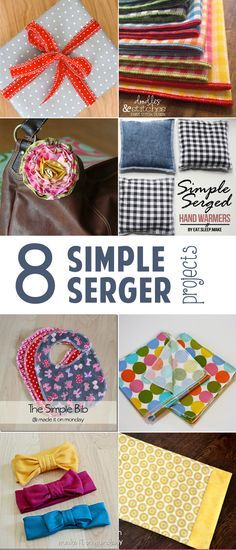 Here are 8 simple serger projects to get you learning your machine. It's the perfect place to start.