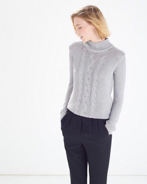 Grey Sarene Glitter Knitted Roll Neck Jumper #ARWishlist