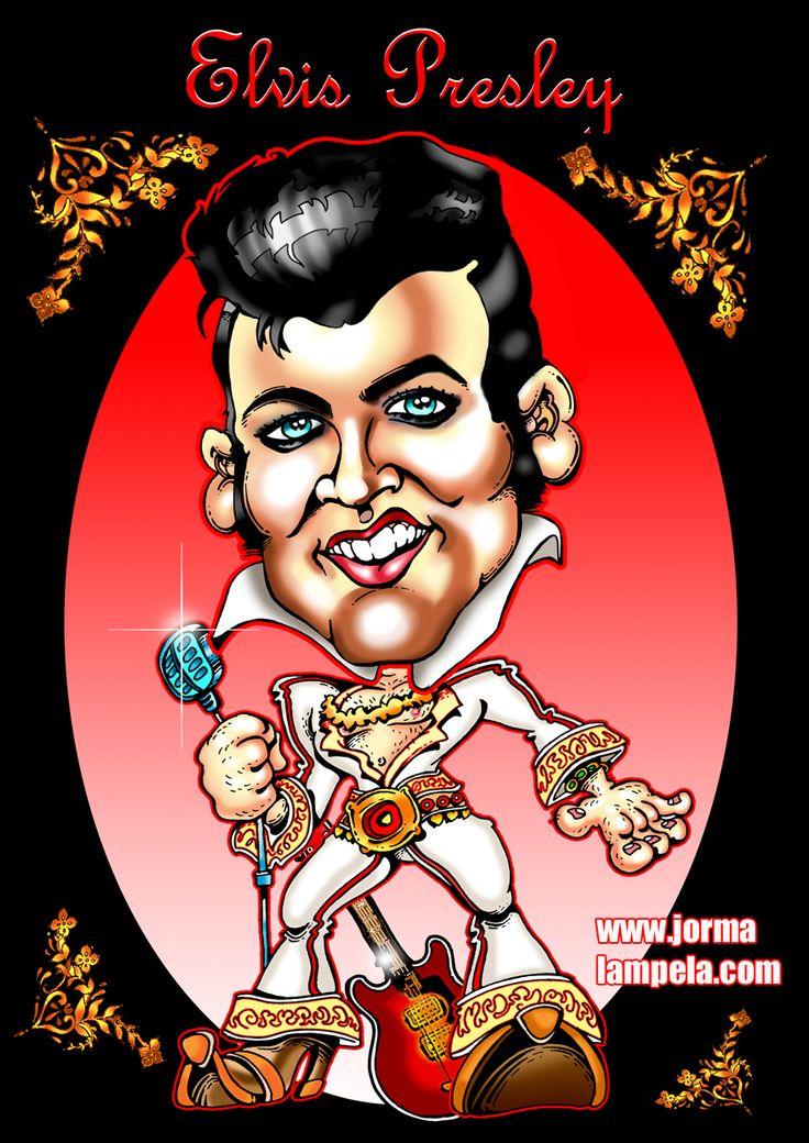 Karikatyyri, Elvis Presley / Caricature of Elvis Presley