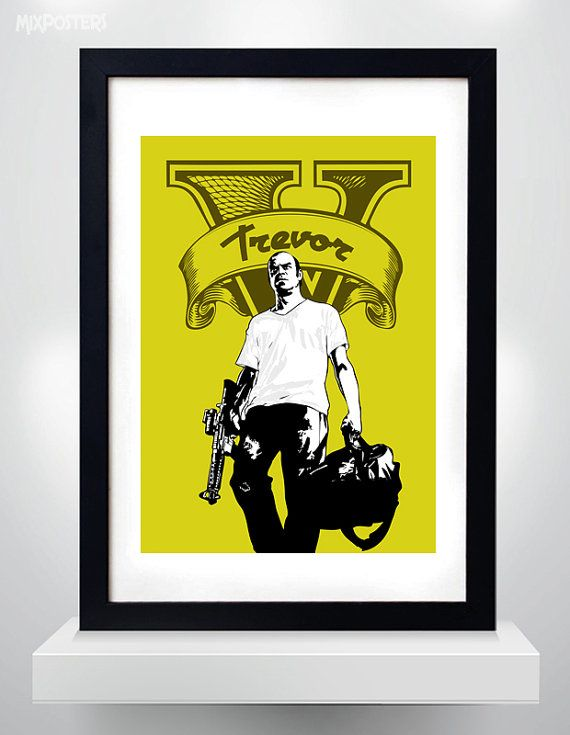 GTA 5TREVOR Wall Art Print Game Poster selectable by MixPosters,