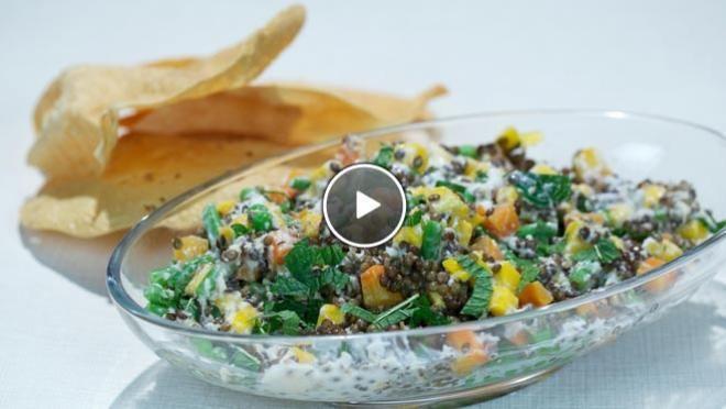 Indiase salade met mango - recept | 24Kitchen