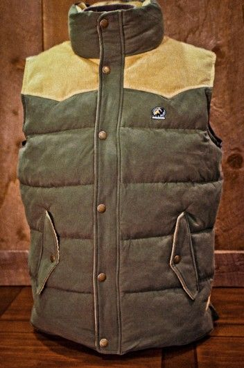Jackson Vest - Green and Tan Corduroy | Buffalo Jackson