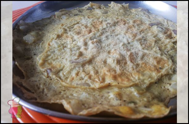 Egg Omelette - Learn the easy breakfast item made with eggs and onions at http://ourvivaha.com/vivahakitchen/recipe/egg-omelette/