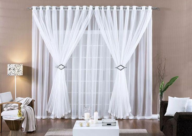 25 melhores ideias sobre cortinas de voal no pinterest for Cortinas romanticas
