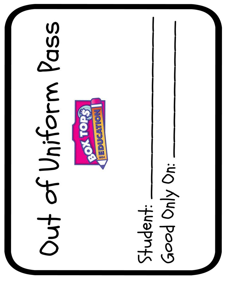 36 best Box Tops images on Pinterest Box tops, Box tops - free pass template