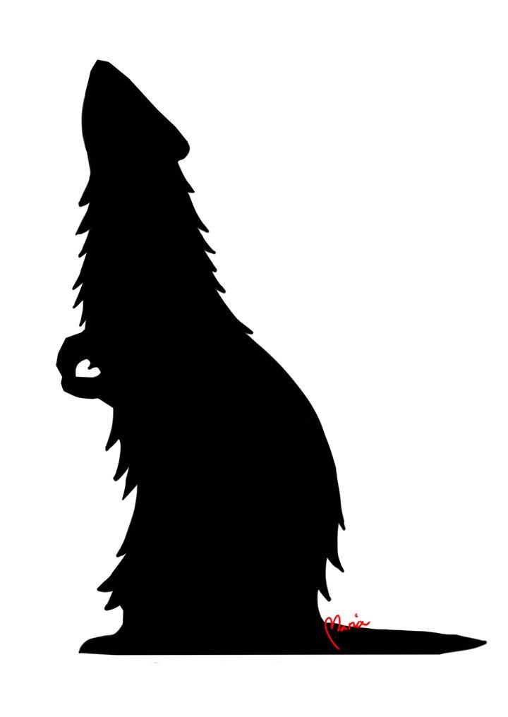 Ferret Silhouette #mariadrawsdaily #fretti #art #drawing