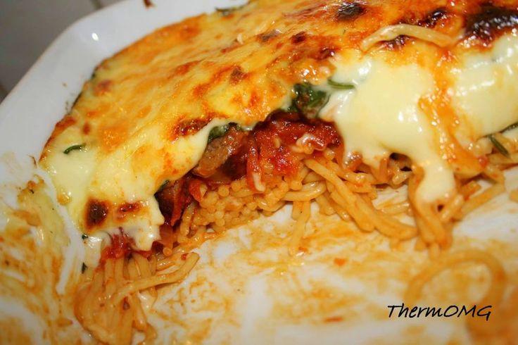 Spinach, Sausage Spaghetti Bake