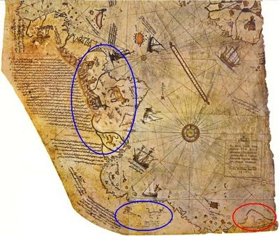 Piri Reis Map allegedly shows the Earth as it is seen from above. How is this possible in midieval times? Science has officially explained that the lumps of ice covering Antarctica millions of years. Piri Reis map shows that the northern continent that has been mapped before the ice cover. That means the region has been mapped million years ago, but that was impossible because ..thats right....humans did not exist at that time.