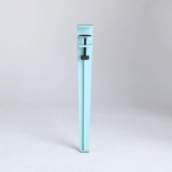 jeu de 4 petits pieds de table amovible design industriel tiptoe acier tiptoe design camper. Black Bedroom Furniture Sets. Home Design Ideas