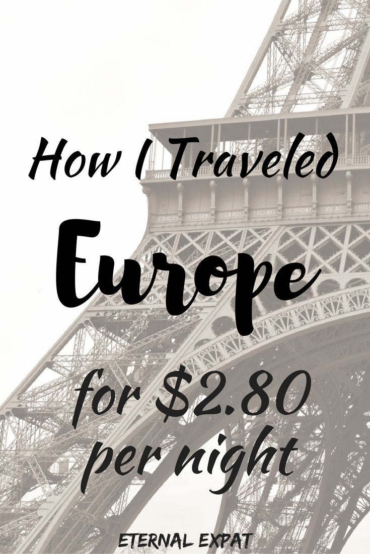 How I Traveled Europe for $2.80 Per Night | Eternal Expat